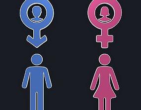 3D model Gender Symbols