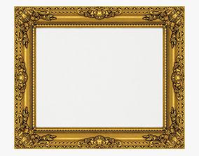 3D model Frame picture gold v4