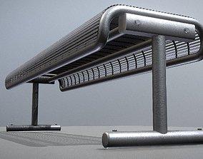 3D model Modern Metal Lattice Bench Low-Poly