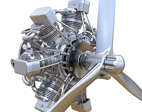 3D Aircraft Engine aero