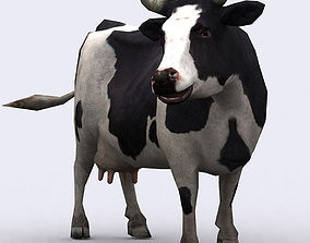 animated 3DRT - Cow
