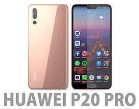 3D Huawei P20 Pro Pink Gold electronics
