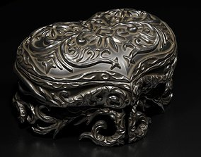 3D asset Carved casket