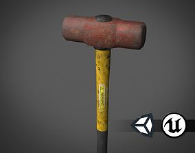 Apocalyptic Sledgehammer - PBR and Game Ready 3D model