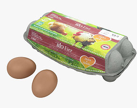 3D Egg Carton cardboard-box