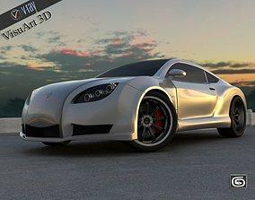 3D model Concept Custom SuperSport Car 1