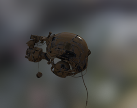 3D model Helmet With Night Vision Goggles