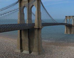 Brooklyn Bridge in 3ds and obj format