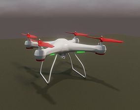 Drone Quadcopter 3D animated