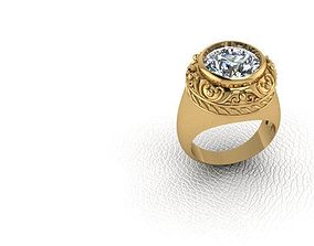3D print model Ring golden