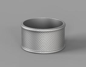 Brick wall ring 3D printable model