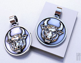 3D printable model pendant bull taurus