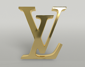 Louis Vuitton Logo 002 3D asset