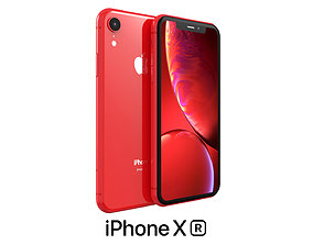 Apple iPhone XR Red 3D model iphone