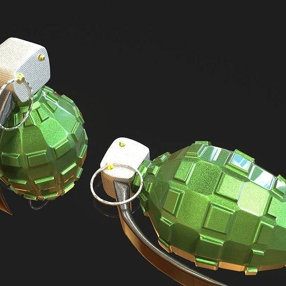 Grenade model for game development