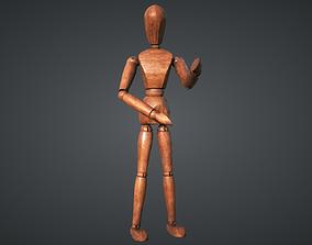 Mannequin wooden 3D model
