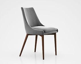 Sullivan Mid Century Dining Chair Wood Gray 3D model