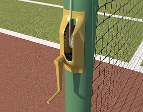 3D model Detailed Tennis Court