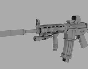 M4A1 3d model toys