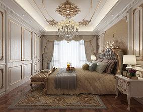 classical bedroom scene 3D