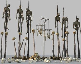 3D model skeleton dead body