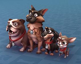 3D model Cartoon Dogs