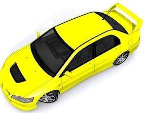 3D asset Mitsubishi Lancer Evolution VIII