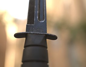 3D asset Ka-Bar Combat Knife