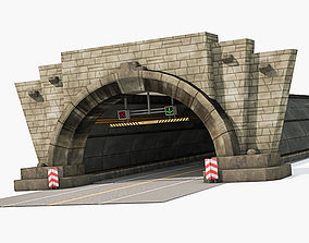 Entrance to tunnel 3D model