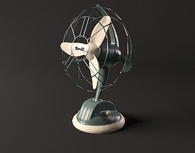 Vintage desk fan Marelli 3D model animated