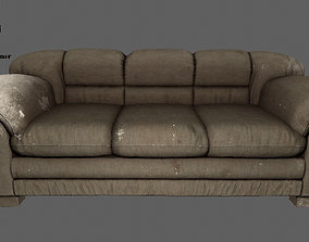 3D asset realtime couch Armchair