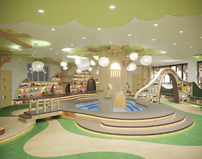 Childrenundefineds activity Room Reading Space 3D