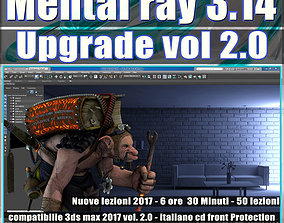 Mental Ray 3ds max 2017 Vol 2 Rendering Upgrade cd front