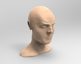 Old male head sculpt 3D