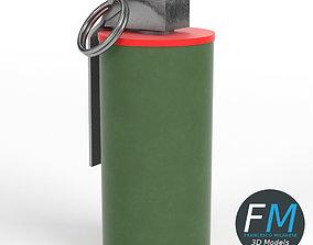 3D model PBR Smoke grenade