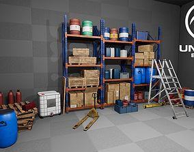 UE4 - Modular Warehouse Props Pack 3D asset