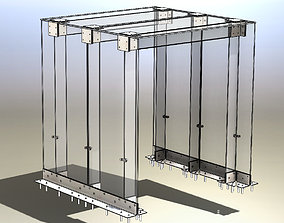 Glass arch or glass visor 3D