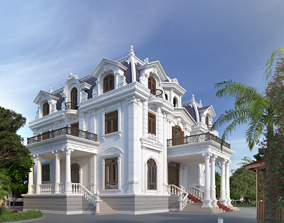 monument House design 3d model animated