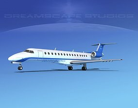 3D Embraer ERJ-140 Executive Express