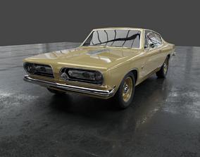 3D Plymouth barracuda 1968