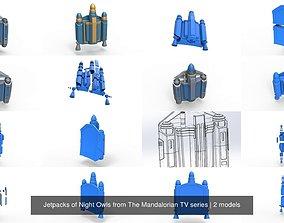 Jetpacks of Night Owls from The Mandalorian TV 3D