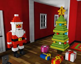 3D asset Voxel Christmas Pack