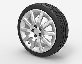 3D Wheel 5x100 R16 Opel Rim with Kormoran UHP Tire