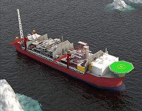 3D asset FPSO Jotun A offshore Oil rig
