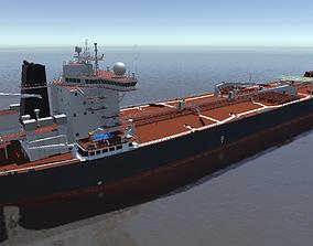General VLCC crude oil tanker 3d model low-poly