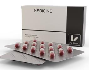 3D model Medicine Capsules Blister Box