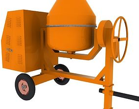 Concrete Mixer Machine 3D asset