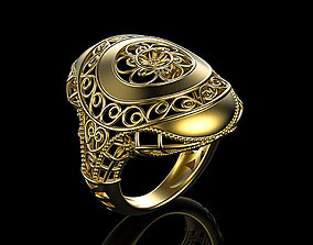 Floral Ring 3D print model