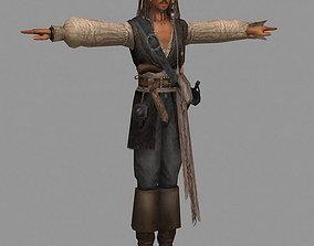 game-ready Captain Jack Sparrow Model