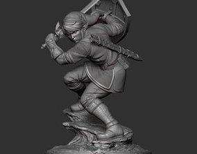 3D printable model Link from Legend of Zelda